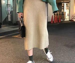 fashion, maxi skirt, and skirt image