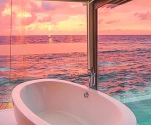 sunset, beautiful, and luxury image