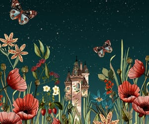 behance, floral, and flower image