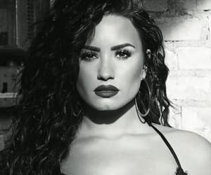 demi lovato, beauty, and black and white image