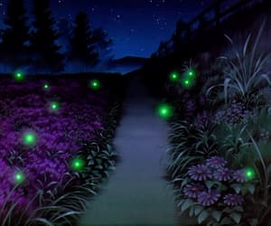 gif, fireflies, and night image