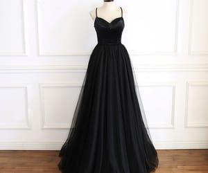 black dress, formal dresses, and prom dresses image