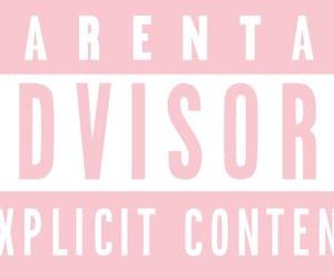 kawaii, rosa, and parental advisory image