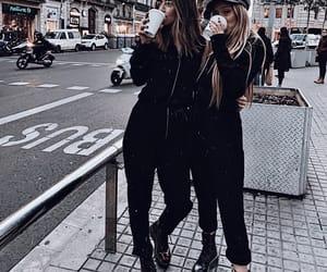besties, coffee, and fashion image