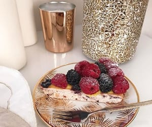 dessert, food, and gold image