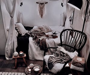 bedroom, boho, and decor image