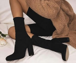 black, boots, and brown image