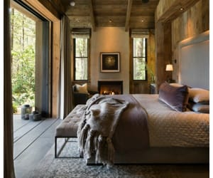 bedroom, design, and farmhouse image