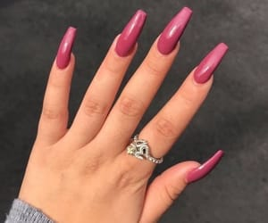 nails, pink, and polish image