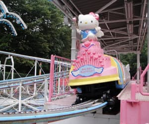 blue, HelloKitty, and pink image