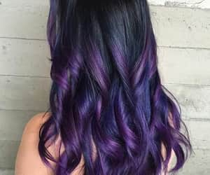 hair, purple, and haïr image