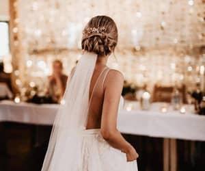 beauty, fashion, and bride image