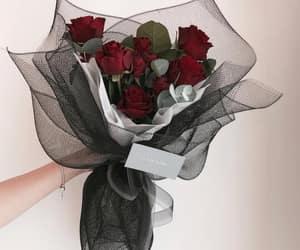 black, bouquet, and Fleurs image