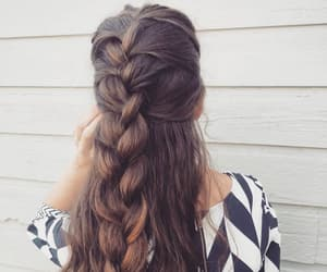 braid, hairdo, and french image
