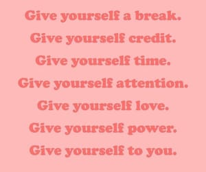 pink, quote, and self care image