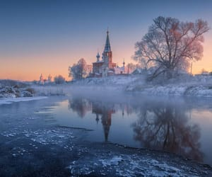 cathedral, nature, and snow image