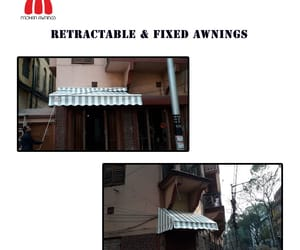 fixed awnings and retractable awnings image