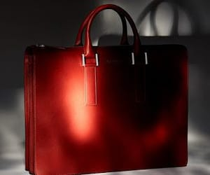accessories, briefcase, and leather briefcase image