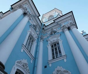 blue, aesthetic, and architecture image