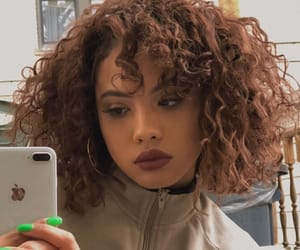 curly, curly hair, and baddie image