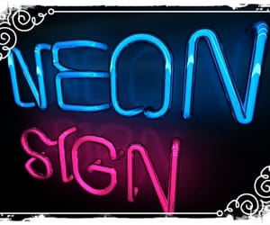 neon, neon signs, and neon sign image