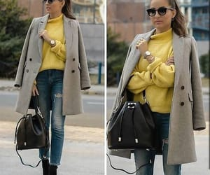 fashion, yellow outfit, and outfit image