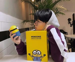 minions, boy, and glasses image