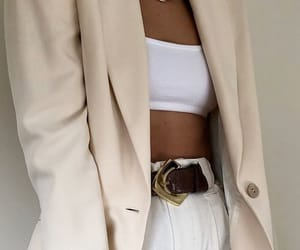 blazer, crop top, and outfit image