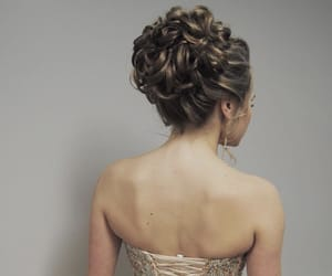 hairstyle, Prom, and hair updo image