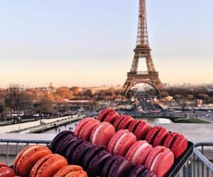 city, eiffel tower, and food image