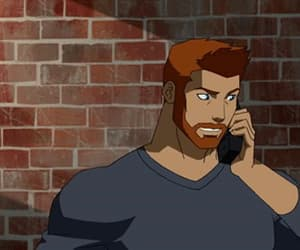 gif, young justice, and roy harper image