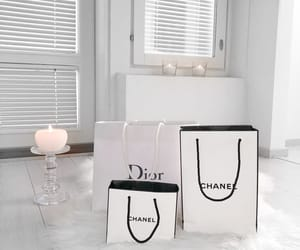 candle, chanel, and decor image