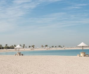 beach, blue, and Dubai image