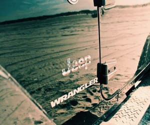 car, jeep, and sand image