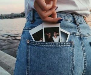jeans, photo, and polaroid image
