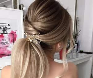 braid, blonde hair, and hair image