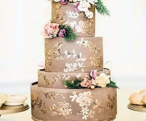 cake, wedding cake, and golden cake image