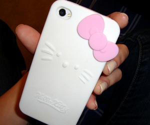 iphone, apple, and hello kitty image