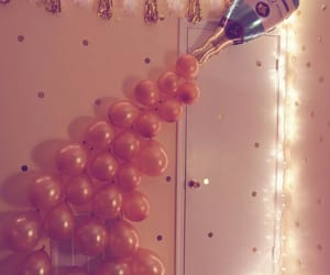 balloons, pink, and celebrate image