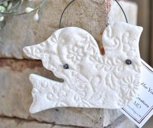 etsy, white dove, and easter decor image