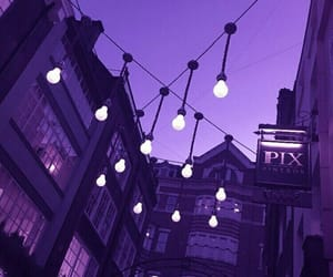aesthetic, purple, and lights image