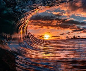 wave, barrel, and nature image