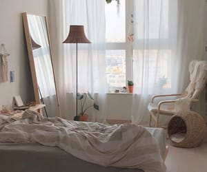 bed, light, and lovely image