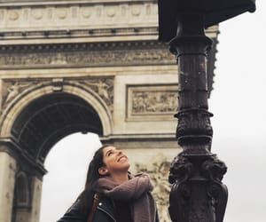 arch, girl, and paris image