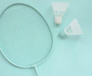 pink, badminton, and tennis image