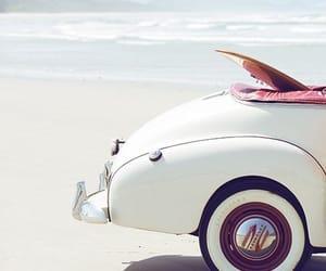 beach, car, and summer image