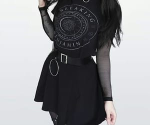 black, emo, and fashion image