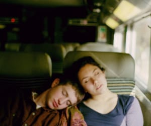 couple and train image