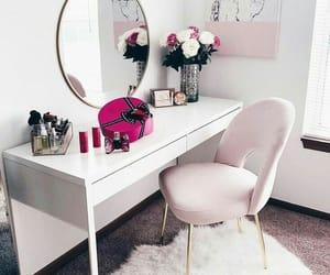 pink, room, and beautiful image