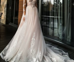 white beautiful and wedding dress stunning image
